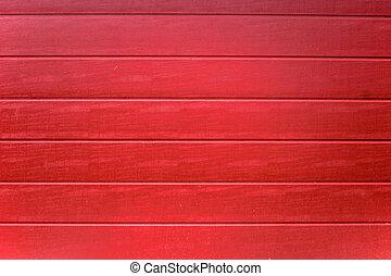 rouges, peint, bois