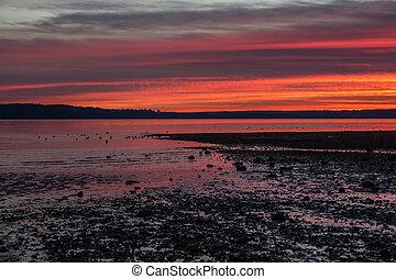 rouges, puget, coucher soleil, 5
