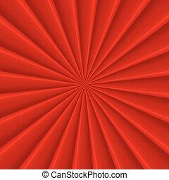 rouges, résumé, rayons, cercle, vecteur, fond