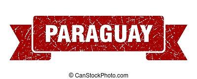 rouges, ribbon., signe, grunge, paraguay, bande