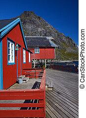 rouges, rorbu, peche, huttes