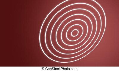 rouges, spirale, vagues