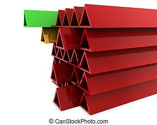 rouges, structure, 3d
