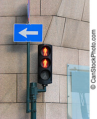 rouges, trafic, double, lumière