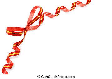 rouges, vacances, arc, blanc, fond