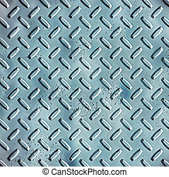 rough blue steel diamond plate