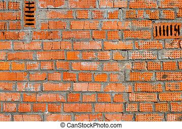 Rough brick wall