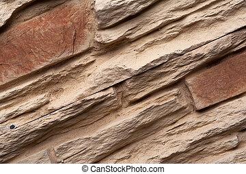 Rough concrete sand wall brick background