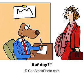 Rough Day - Business cartoon about a businesswoman who had a...