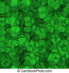 Rough emerald crystal. Seamless texture.