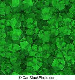 Rough emerald crystal. Seamless texture.