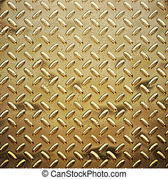 rough gold diamond plate - a very large sheet of roughened...
