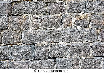 Rough grey natural stone wall