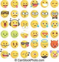 Rough Hand Drawn Big Emoji Set 2
