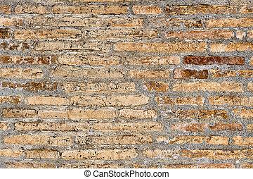 Rough historic brick wall