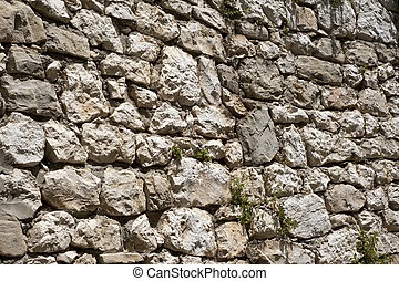 Rough historic stone wall