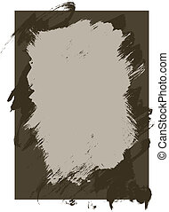 Rough Ink and paint texture background in vector format