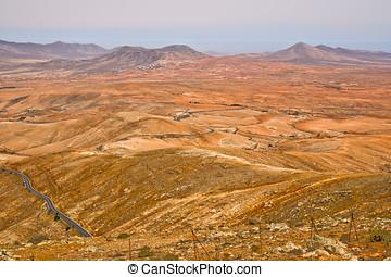 Rough landscape in Fuerteventua, Canary Islands, Spain