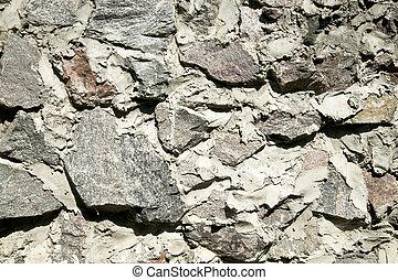 rough masonry stone wall