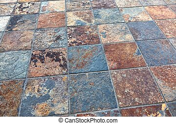 Rough old tiles