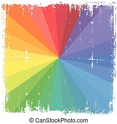 Rough Rainbow Vector Background