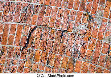 Rough red brickwall