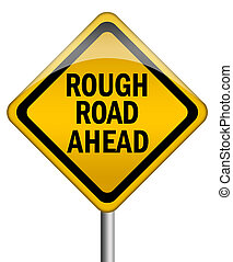 Rough road ahead sign - Rough road ahead road sign