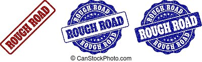 ROUGH ROAD Grunge Stamp Seals - ROUGH ROAD grunge stamp...