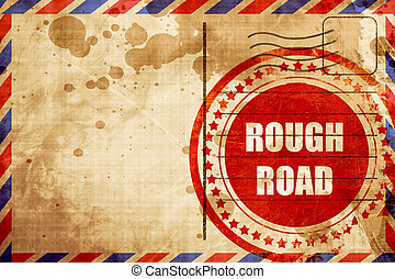Rough road sign with some soft glowing highlights, red...
