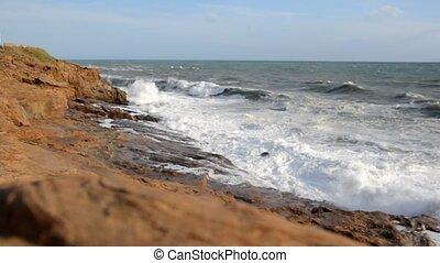 Rough sea on the Livorno coast