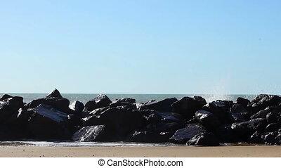 Rough sea on the rocks 2