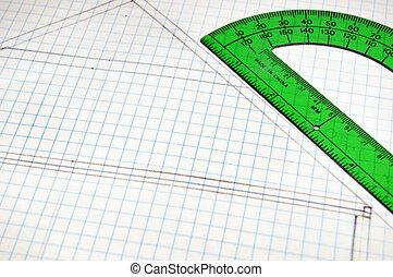 Floor Plans on grid paper