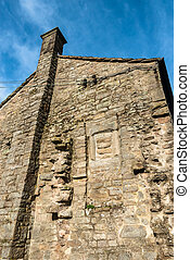 Rough Stone Cottage - Rugged stonework detail of an old farm...