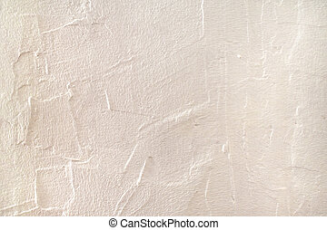 Rough surface plaster texture. Peachy pink light orange color background with copy space. Decorative plastering textured wall. Abstract backdrop.