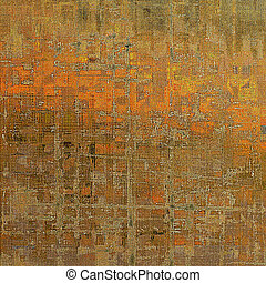 Rough textured backdrop, abstract vintage background with different color patterns: yellow (beige); brown; red (orange); gray