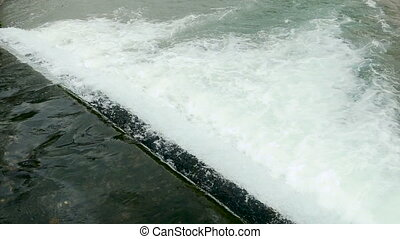 rough water rapids on the diagonal in Abkhazia
