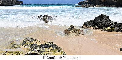 Rough Waters off Boca Keto Beach in Aruba