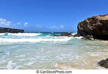 Rough Waters off of Boca Ketu Beach in Aruba