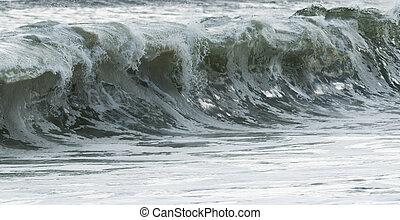 Rough waves in the Atlantic Ocean