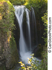 Roughlock Falls in Spearfish Canyon of the Black Hills of South Dakota.
