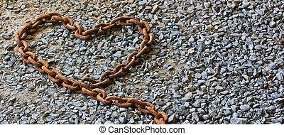 rouillé, chaîne