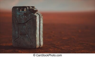 rouillé, désert, boîte métallique, carburant, vieux