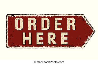 rouillé, ici, ordre, vendange, signe métal