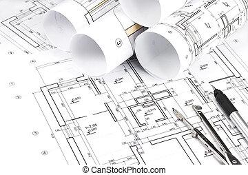 roulé, plans bâtiment