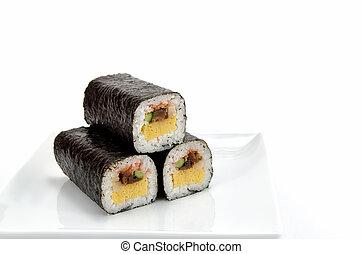 roulé, sushi