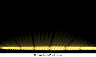 rouleau, balles, lumière, rayons, disco