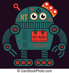 rouler, 2, robot, illustration