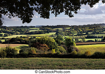 rouler, campagne, sussex