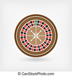roulett, amerikanische , kasino, symbol, wheel.