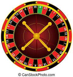 roulett hjul, kasino